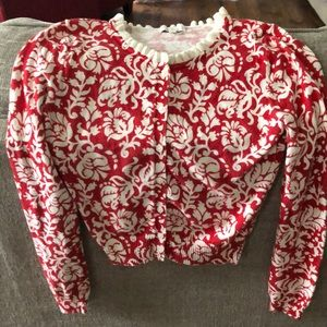 Fossil Floral Scrolled Sweater